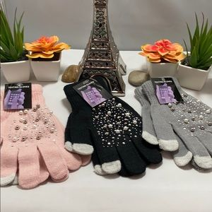 Texting Acrylic Decorative Hand Gloves